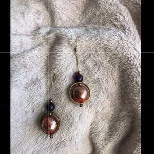 Fiery celestial handmade earrings 🔥